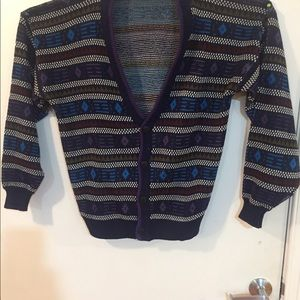 Vintage men's or unisex cardigan sweater Sz large